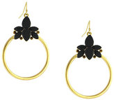 Jessica Simpson Stone Cluster Hoop Earrings