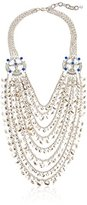 "m. haskell Fashion Jewelry ""Tribal Glam"" Blue Multi-Mixed Bead Layered Necklace, 20''+3'' Extender"