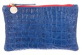 Clare Vivier Embossed Leather Pouch