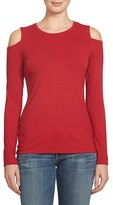 1 STATE 1.State Cold Shoulder Stretch Jersey Top