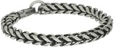 "Steve Madden Stainless Steel 9"" Twisted Curb Chain Bracelet"