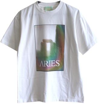 Aries White Cotton Tops