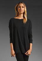 Rib Trim Boatneck Sweater