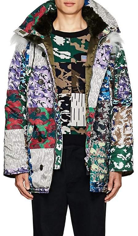 Gosha Rubchinskiy Men's N-3B Faux-Fur-Lined Camouflage Parka