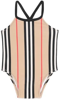 BURBERRY KIDS Baby Crina Icon Stripe swimsuit