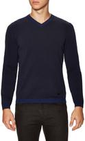 Armani Collezioni Ribbed V-Neck Sweater