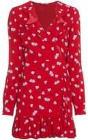 Miu Miu Strawberry print tea dress