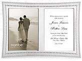 Nambe Bead Double Invitation Frame