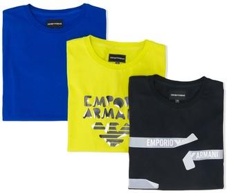 Emporio Armani Kids cotton T-shirt set