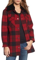 Pendleton Women's Cheyenne Plaid Wool Blend Coat With Faux Shearling Collar