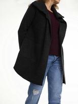 White + Warren Lofty Melange Oversized Collar Coatigan