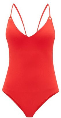 Melissa Odabash Catalina Laced-back Swimsuit - Womens - Red