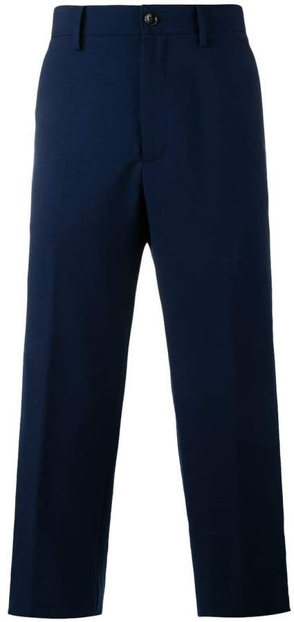 Gucci wool mohair blend cropped trousers