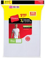 Hanes Men's TAGLESS ComfortSoft Crewneck Undershirt 7-PK (Includes 1 Free Bonus Crewneck), Size-M