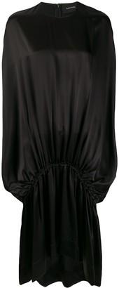 Simone Rocha Dropped-Waist Silk Satin Dress
