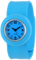 "Slide Kids' SL1P-JRLU ""Slap Junior"" Light Blue Silicone Watch with Interchangeable Dials"