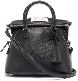 Maison Margiela 5ac Small Quilted-leather Bucket Bag - Black