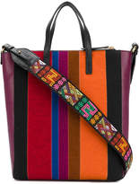 Etro striped bucket tote