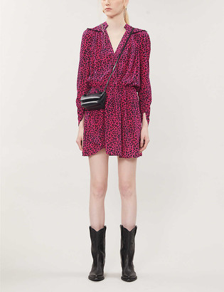 Zadig & Voltaire Reveal graphic-print crepe mini dress