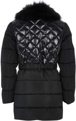 River Island Girls Longline Padded Coat-Black