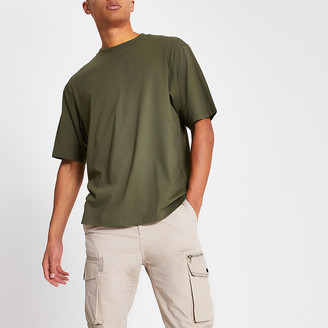 River Island Khaki short sleeve oversized fit T-shirt