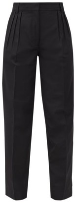 Acne Studios Pana Pleated Grain-de-poudre Trousers - Black