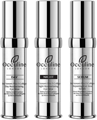 Occuline London 0.50Oz Triple Threat Restructuring & Repairing Remedy: Day Treatment, Night Treatment, Serum