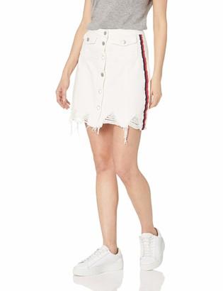 CG JEANS Cute Ruffle Short Pencil Denim Jeans Skirt for Women