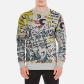 Vivienne Westwood Anglomania Newspaper Rubbish Jumper Grey