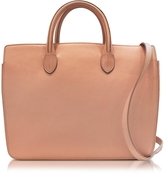 Jil Sander Open Pink Leather Small Handbag
