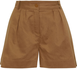 Eres About Pleated Cotton Shorts