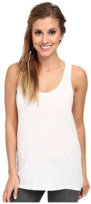 Hurley Solid Perfect Tank Top (White) Women's Sleeveless