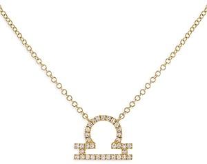 Adina's Jewels Adinas Jewels Pave Libra Pendant Necklace, 16-18