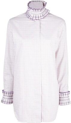 Victoria Beckham Grid-Print Shirt