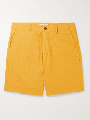 Mr P. Garment-Dyed Cotton-Blend Seersucker Shorts
