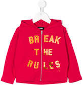 Diesel Break The Rules print hoodie
