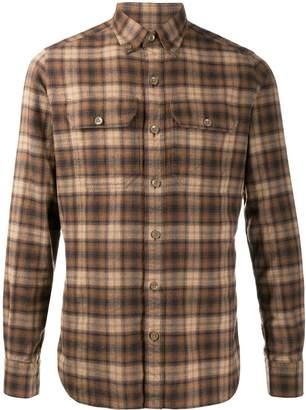 Tom Ford tartan check shirt