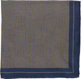 Fairfax Men's Micro-Dot Silk Pocket Square-NAVY