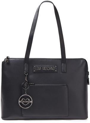 Love Moschino Logo-embellished Pebbled-leather Shoulder Bag