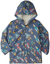 Hatley Retro Rockets Raincoat (Toddler/Kid) - Gray - 2