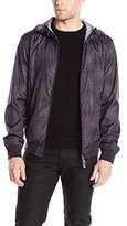 Armani Jeans Men's Printed Logo Jacket, Small