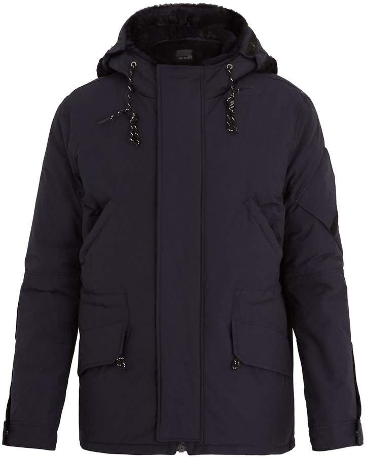 Yves Salomon Hooded fur-lined cotton-blend parka