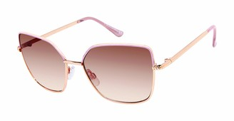 Tahari Women's TH787 Geometric Square Sunglasses with 100% UV Protection 54 mm