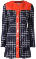 Courreges 'Grid' shirt dress - women - Cotton/Polyester/Polyurethane/Viscose - 38