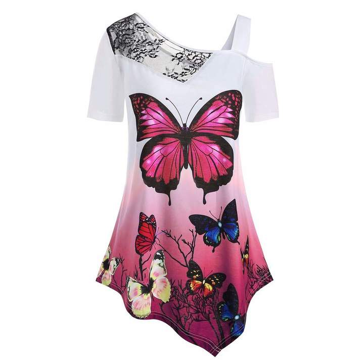 abf40df35f77 Butterfly Print T-shirt - ShopStyle Canada