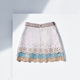 Tommy Hilfiger Metallic Leather Skirt