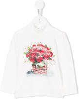 Miss Blumarine long sleeve printed blouse