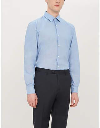 BOSS Long-sleeved slim-fit cotton shirt