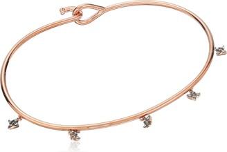 Tai Mini Charm Rose Gold/Clear Cuff Bracelet