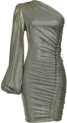 Pinko Metallic One-Shoulder Dress